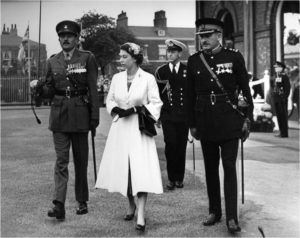 Melsome accompanying Queen Elizabeth II in Stockton-on-Tess