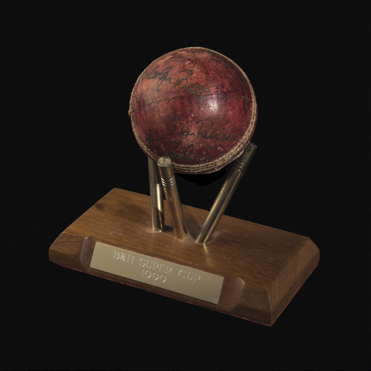 Ball used in the Benson & Hedges Super Cup Final at Lord's 1 August 1999