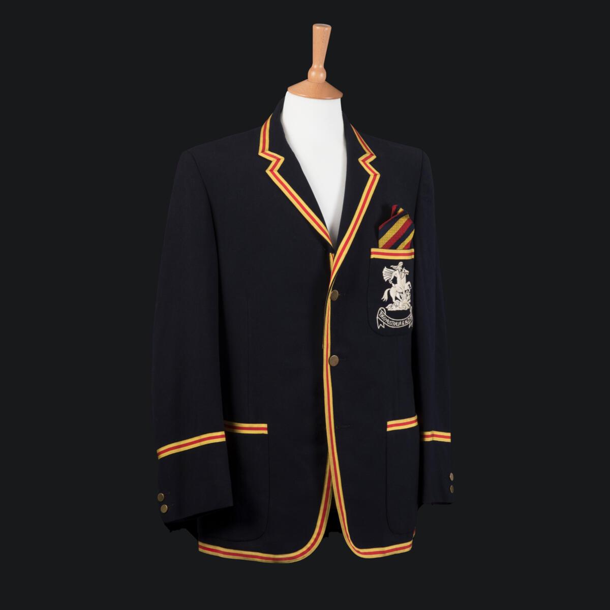 Blazer and MCC Touring Tie: England Tour to Australia and New Zealand 1965/66.Gift of David Allen